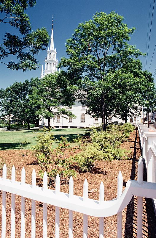 Church w: fence